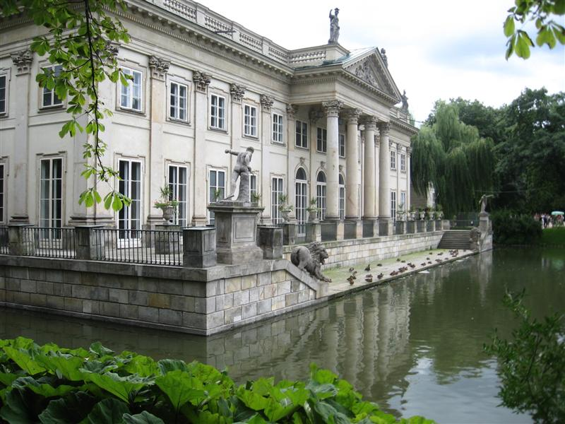 Lazienki Palace and Lake